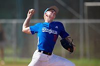 Benjamin Fiedler (32) during the WWBA World Championship at Terry Park on October 11, 2020 in Fort Myers, Florida.  Benjamin Fiedler, a resident of Stanchfield, Minnesota who attends IMG Academy High School.  (Mike Janes/Four Seam Images)