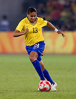 Francielle. The USWNT defeated Brazil, 1-0, to win the gold medal during the 2008 Beijing Olympics at Workers' Stadium in Beijing, China.