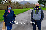 Enjoying a stroll in the Killarney National park on Friday, l to r: Julie Bowes and John Doolan.