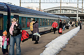 Tallinn railway station.  Estonian railways were renationalised in 2006 following a controversial nine years in the private sector.