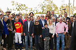 CYPRESS, CA  DECEMBER 9: The winners circle minus #5 McKinzie after he wins the Los Alamitos Cash Call Futurity (Grade l) by disqualification on December 9, 2017, at Los Alamitos Race Course in Cypress, CA. (Photo by Casey Phillips/ Eclipse Sportswire/ Getty Images)