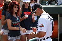 Detroit Tigers Robert Brantly #71 signs autographs before an exhibition game vs. the Florida Southern Mocs at Joker Marchant Stadium in Lakeland, Florida;  February 25, 2011.  Detroit defeated Florida Southern 17-5.  Photo By Mike Janes/Four Seam Images