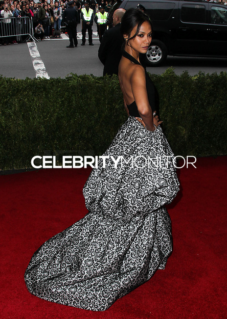 """NEW YORK CITY, NY, USA - MAY 05: Zoe Saldana at the """"Charles James: Beyond Fashion"""" Costume Institute Gala held at the Metropolitan Museum of Art on May 5, 2014 in New York City, New York, United States. (Photo by Xavier Collin/Celebrity Monitor)"""
