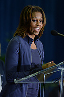 MIAMI, FL - FEBRUARY 25: First Lady Michelle Obama and Amy Poehler speak during a visit to the Gwen Cherry Park NFL/YET Center as she celebrates the 4th Anniversary of Let's Move on February 25, 2014 in Miami, Florida<br /> <br /> <br /> People:  First Lady Michelle Obama_Amy Poehler<br /> <br /> Transmission Ref:  MNC5<br /> <br /> Must call if interested<br /> Michael Storms<br /> Storms Media Group Inc.<br /> 305-632-3400 - Cell<br /> 305-513-5783 - Fax<br /> MikeStorm@aol.com