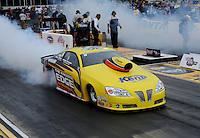 May 13, 2011; Commerce, GA, USA: NHRA pro stock driver Rodger Brogdon during qualifying for the Southern Nationals at Atlanta Dragway. Mandatory Credit: Mark J. Rebilas-