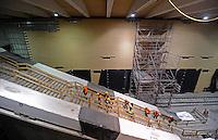 Begehung Baustelle Citytunnel Station am Markt - Deutsche Bahn - im Bild: die zentrale Haltestelle am Markt wird bereits verkleidet - in der Zwischenebene (früher Markt 1) enstehen Fahrkartenschalter. Foto: aif / Norman Rembarz..Jegliche kommerzielle wie redaktionelle Nutzung ist honorar- und mehrwertsteuerpflichtig! Persönlichkeitsrechte sind zu wahren. Es wird keine Haftung übernommen bei Verletzung von Rechten Dritter. Autoren-Nennung gem. §13 UrhGes. wird verlangt. Weitergabe an Dritte nur nach  vorheriger Absprache. Online-Nutzung ist separat kostenpflichtig..