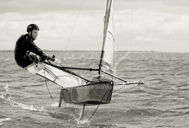 First flying session on a foiling Moth for Francois Gabart.<br /> François Gabart (born 23 March 1983 in Saint-Michel-d'Entraygues, France) is a French professional offshore yacht racer who won the 2012-13 Vendée Globe in 78 days 2 hours 16 minutes, setting a new race record.