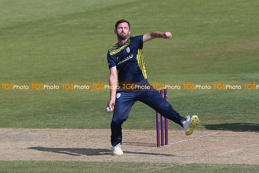 Ian Holland in bowling action for Hampshire during Hampshire Hawks vs Essex Eagles, Royal London One-Day Cup Cricket at The Ageas Bowl on 22nd July 2021