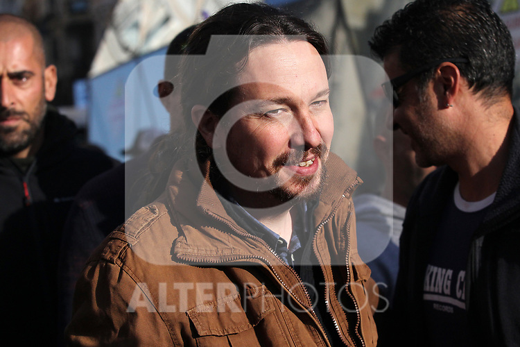 The general secretary of Podemos, Pablo Iglesias, is seen at the march of pensioners at Puerta del Sol on October 15, 2019 in Madrid, Spain.(ALTERPHOTOS/ItahisaHernandez)