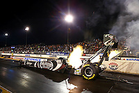 Jul. 26, 2013; Sonoma, CA, USA: NHRA top fuel dragster driver Shawn Langdon during qualifying for the Sonoma Nationals at Sonoma Raceway. Mandatory Credit: Mark J. Rebilas-