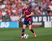 EAST HARTFORD, CT - JULY 5: Megan Rapinoe #15 of the USWNT dribbles during a game between Mexico and USWNT at Rentschler Field on July 5, 2021 in East Hartford, Connecticut.