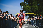 Jelle Wallays (BEL) Cofidis arrives at sign on before Stage 7 of the 2021 Tour de France, running 249.1km from Vierzon to Le Creusot, France. 2nd July 2021.  <br /> Picture: A.S.O./Pauline Ballet | Cyclefile<br /> <br /> All photos usage must carry mandatory copyright credit (© Cyclefile | A.S.O./Pauline Ballet)