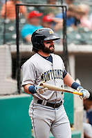 Montgomery Biscuits second baseman Jake Palomaki (3) stands on deck during the game against the Tennessee Smokies on May 9, 2021, at Smokies Stadium in Kodak, Tennessee. (Danny Parker/Four Seam Images)