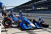 Verizon IndyCar Series<br /> IndyCar Grand Prix<br /> Indianapolis Motor Speedway, Indianapolis, IN USA<br /> Saturday 13 May 2017<br /> Tony Kanaan, Chip Ganassi Racing Teams Honda, pit stop<br /> World Copyright: Michael L. Levitt<br /> LAT Images