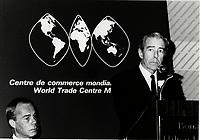 Montreal (QC) CANADA 1985 file photo - Jean-Jacques Cervan-Schreiber (R)