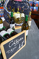 Collioure blanc. Domaine Pietri-Geraud Roussillon. The wine shop and tasting room. France. Europe. Bottle.