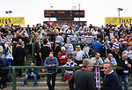 Yeovil Town 0 Queens Park Rangers 1, 21/09/2013. Huish Park, Championship. QPR fans at half time in the terraced away end. Photo by Paul Thompson.