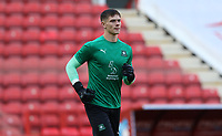 Michael Cooper of Plymouth Argyle warming up during Charlton Athletic vs Plymouth Argyle, Emirates FA Cup Football at The Valley on 7th November 2020