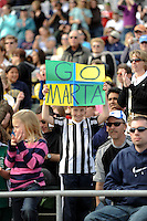 A young Marta fan holds up a sign before the game. The Los Angeles Sol defeated Sky Blue FC 2-0 during a Women's Professional Soccer match at TD Bank Ballpark in Bridgewater, NJ, on April 5, 2009. Photo by Howard C. Smith/isiphotos.com