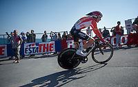Louis Vervaeke (BEL/Lotto-Soudal) finishing the opening TTT<br /> <br /> 2015 Giro<br /> finish zone of stage 1: San Lorenzo Al Mare - San remo (TTT/17.6km)