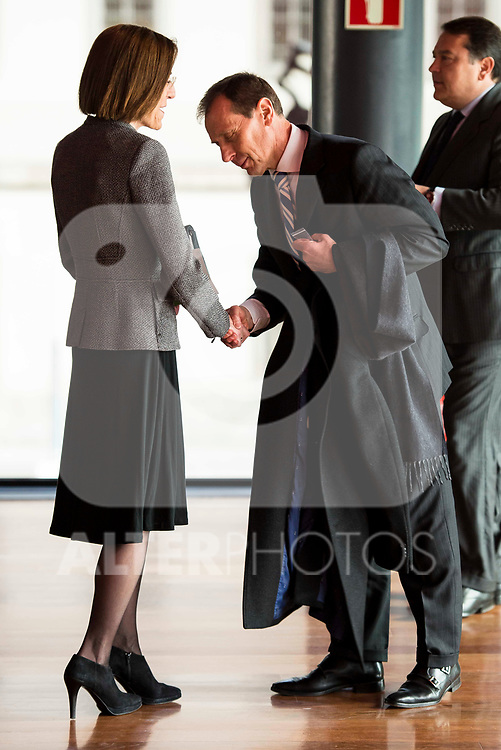 Emilio Butragueño attends to the act of imposition of the great cross of the civil order of Alfonso X el Sabio to D. Francisco Luzon Lopez at Reina Sofia Museum in Madrid. March 13, 2017. (ALTERPHOTOS/Borja B.Hojas)