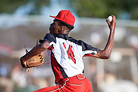 Corey Armstrong during the WWBA World Championship at the Roger Dean Complex on October 20, 2018 in Jupiter, Florida.  Corey Armstrong is a right handed pitcher from Winter Haven, Florida who attends Santa Fe Catholic High School.  (Mike Janes/Four Seam Images)