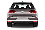 Straight rear view of a 2015 Volkswagen Golf GTE 5 Door Hatchback 2WD Rear View  stock images