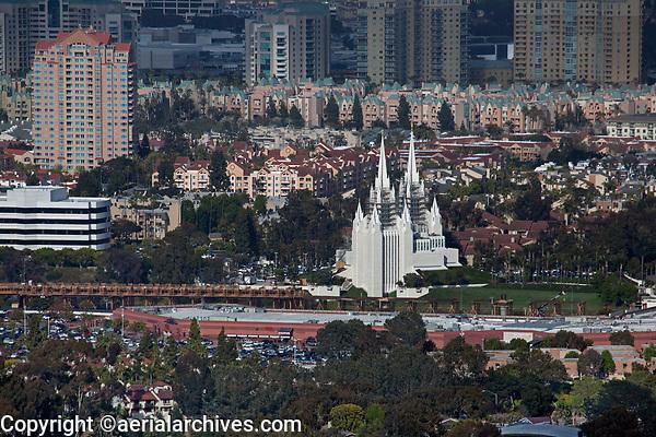 aerial photograph of the San Diego California Temple, La Jolla, San Diego, County, California