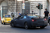 A car crash occurred on the set of the film Mission Impossible 7 shot in Via Nazionale. The stuntman car and the camera car had a crash while shooting<br /> Rome (Italy), October 9th 2020<br /> Photo Samantha Zucchi Insidefoto