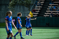 Seattle, WA - Saturday May 13, 2017: Jess Fishlock during a regular season National Women's Soccer League (NWSL) match between the Seattle Reign FC and the Washington Spirit at Memorial Stadium.