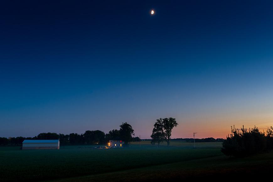 Farmstead Moonrise