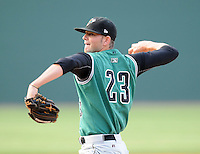 RHP Chris Heston (23) of the Augusta GreenJackets, Class A affiliate of the San Francisco Giants, in a game against the Greenville Drive on May 20, 2010, at Fluor Field at the West End in Greenville, S.C. Photo by: Tom Priddy/Four Seam Images
