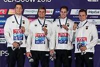 Team GERMANYBronze Medal<br /> DIENERChristian<br /> SCHWINGENSCHLOEGLFabian<br /> KUSCHMarius<br /> WIERLINGDamian<br /> 4x100m Medley Relay Men<br /> Glasgow 09/08/2018<br /> Swimming Tollcross International Swimming Centre<br /> LEN European Aquatics Championships 2018 <br /> European Championships 2018 <br /> Photo Giorgio Scala/ Deepbluemedia /Insidefoto