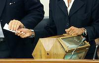 Urna.CSM - Consiglio Superiore della Magistratura (Plenum) .Nomina del Vice Presidente.Roma, 2 Agosto 2010.Photo Serena Cremaschi Insidefoto