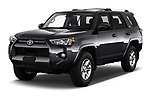 2020 Toyota 4-Runner SR5 5 Door SUV Angular Front automotive stock photos of front three quarter view