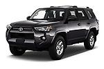 2020 Toyota 4-Runner SR5 5 Door SUV Angular Front automotive stock photos of front three quarter view