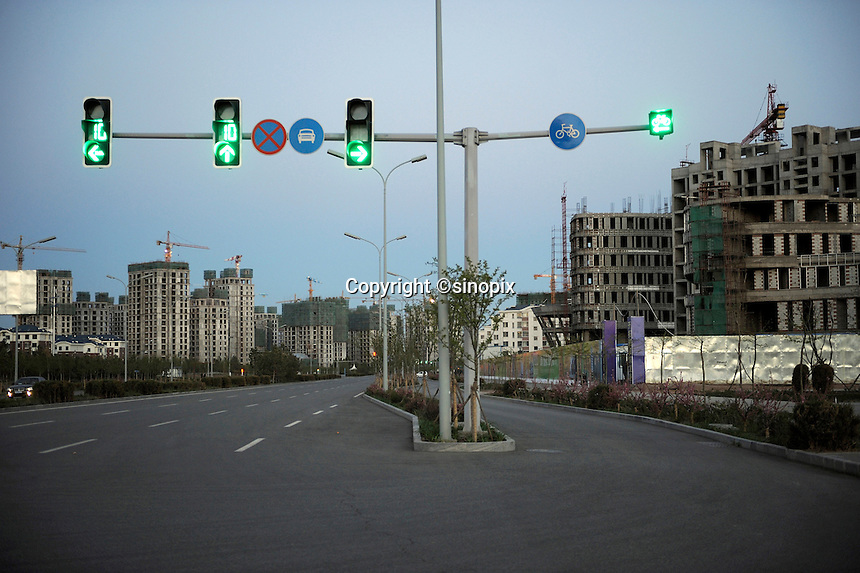 Properties in Kangbashi district of the Chinese city of Ordos, Inner Mongolia. 12-May-2011