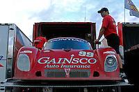 #99 GAINSCO/Bob Stallings Racing Pontiac/Riley of Jon Fogarty & Alex Gurney is loaded onto it's transporter following the race.