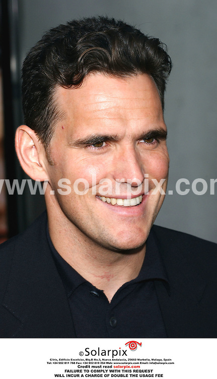 ALL ROUND PICTURES FROM SOLARPIX.COM.*MUST CREDIT SOLARPIX.COM OR DOUBLE FEE WILL BE CHARGED*.The premiere of his film, You, Me and Dupree at the Arclight Theater in Los Angeles California in U.S.A yesterday..This pic:Matt Dillon  arrives at the premiere of his film.DATE:11.07.06-JOB REF:2566-GLS