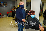 Ann Sheehy from Duagh getting her done by Danny Russell in Danny's Hair and Beauty salon in Listowel on Monday.