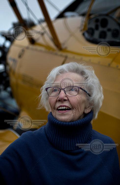 Betty Bromage, an octogenarian wing walker.