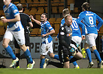 St Johnstone v Motherwell…17.12.16     McDiarmid Park    SPFL<br />Chris Kane celebrates his goal<br />Picture by Graeme Hart.<br />Copyright Perthshire Picture Agency<br />Tel: 01738 623350  Mobile: 07990 594431