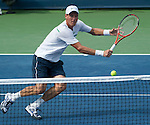 Thomas Berdych (CZE) defeats Roger Federer (SUI)  at the Western and Southern Financial Group Masters Series in Cincinnati on August 19, 2011.  Fish won, 6-3, 6-4.