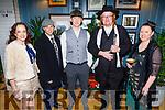 Enjoying the Peaky Blinders Christmas party in the Ashe Hotel on Friday.<br /> L to r: Linda Brennan (Crua Outdoors), Chris Brennan (Crua Outdoors), Derek O'Sullivan, (Crua Outdoors), Travis Slattery (Tom Crean Centre) and Deanna Slattery (Castlegreogry).