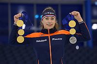 SCHAATSEN: HEERENVEEN: IJsstadion Thialf, Wereldkampioen Junioren Femke Kok, ©foto Martin de Jong