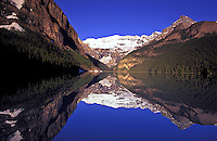 Canada, Alberta, Banff National Park. Lake Louise and Victoria Glacier