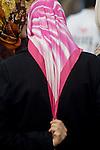 Istanbul, Turkey, Muslim women in head scarfs, Windy day,