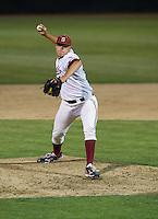 STANFORD, CA - April 19, 2013: Stanford reliever Sam Lindquist (37) during the Stanford vs Arizona baseball game at Sunken Diamond in Stanford, California. Final score, Stanford 4, Arizona 3.