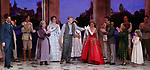 """John Bolton, Judy Kaye, Christy Altomare, Max von Essen and Vicki Lewis with Cody Simpson making his Broadway Debut Bows in """"Anastasia"""" at the Broadhurst Theatre on November 29, 2018 in New York City."""