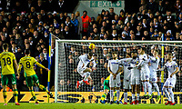 Norwich City's Mario Vrancic scores the opening goal <br /> <br /> Photographer Alex Dodd/CameraSport<br /> <br /> The EFL Sky Bet Championship - Leeds United v Norwich City - Saturday 2nd February 2019 - Elland Road - Leeds<br /> <br /> World Copyright © 2019 CameraSport. All rights reserved. 43 Linden Ave. Countesthorpe. Leicester. England. LE8 5PG - Tel: +44 (0) 116 277 4147 - admin@camerasport.com - www.camerasport.com